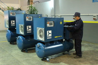 screw air compressors assembly line
