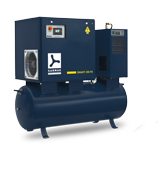 Electric Low Capacity Tank Mounted Rotary Screw Compressors